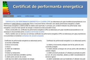 Certificat de performanta energetica Romania