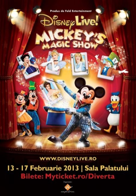 Mickey's Magic Show in premiera la Bucuresti