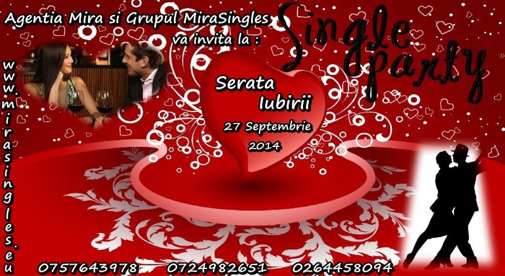Party Singles - 27 Septembrie 2014 - o serata pentru cei singuri