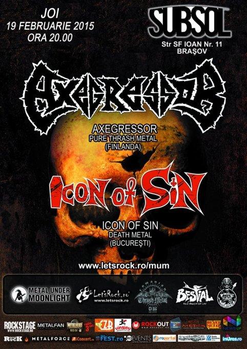 Axegressor (Finlanda) si Icon of Sin