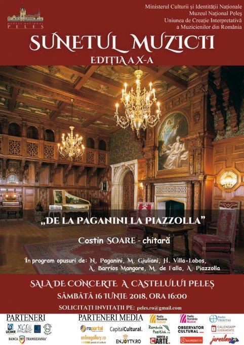 """""""De la Paganini la Piazzolla"""" – Recital de chitară la Castelul Peleș"""