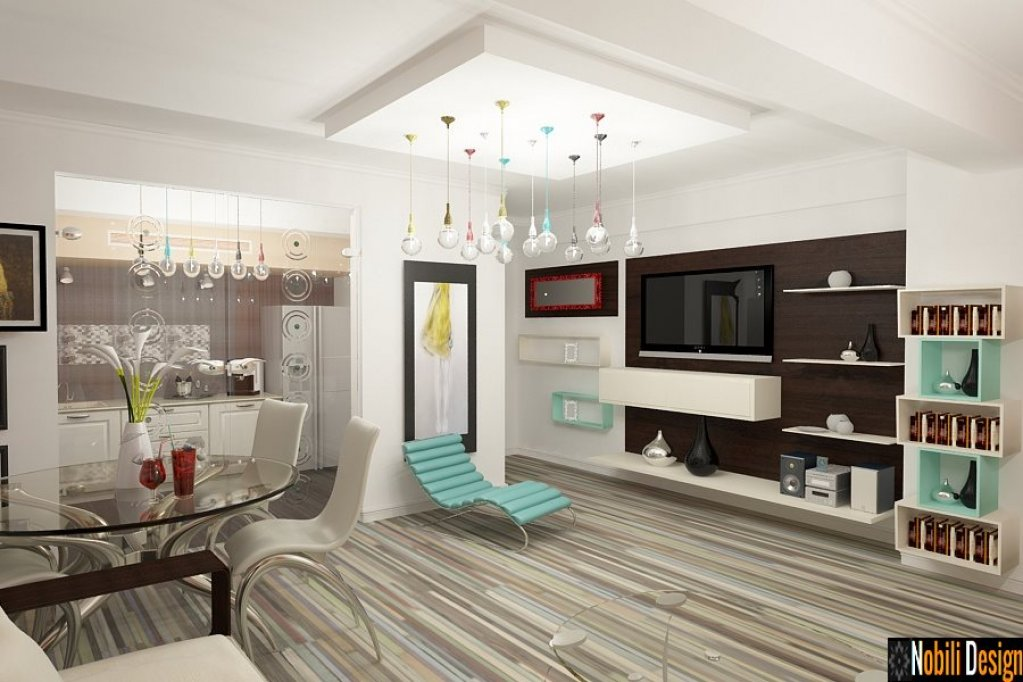 Amenajare cu design interior pentru apartament cu 3 camere
