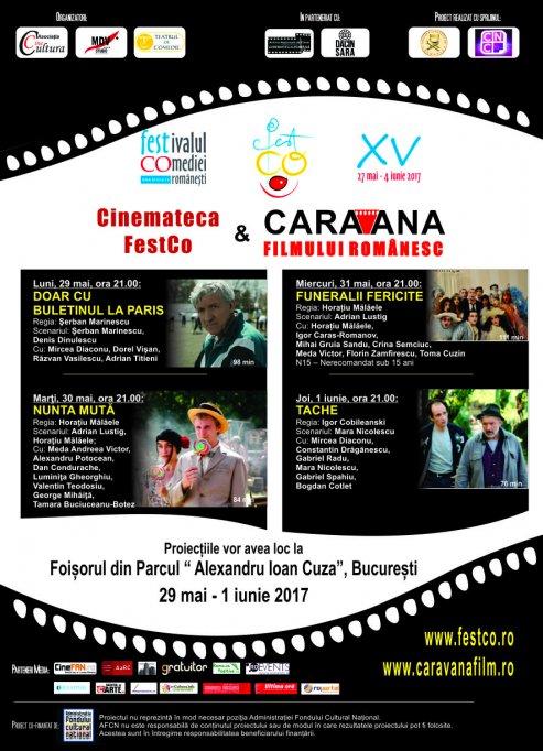 Seri cu proiecţii de film românesc, oferite de  Cinemateca festCO & Caravana filmului românesc