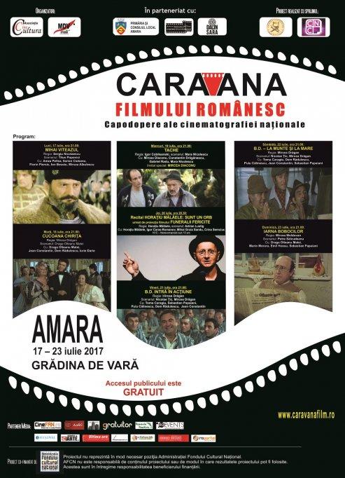 """""""Caravana filmului românesc"""" revine la Amara,  împreună cu Mircea Diaconu şi Horaţiu Mălăele"""