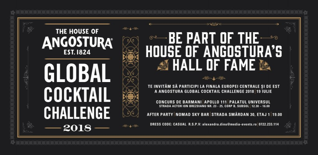 Angostura Global Cocktail Challenge - 10.000 de dolari pentru cel mai bun barman