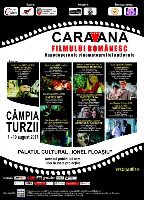 Proiecţii cu filme româneşti în cadrul  Zilelor Municipiului Câmpia Turzii