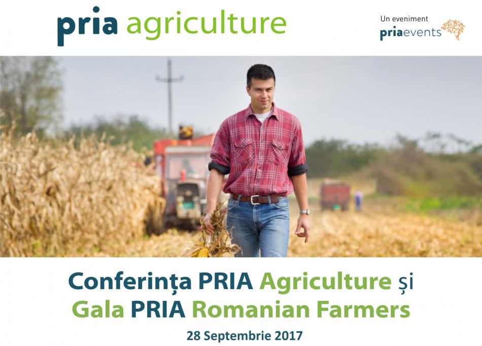 Fermierii români vor fi premiați și anul acesta în cadrul Galei PRIA Romanian Farmers care va avea loc la București, în 28 septembrie 2017