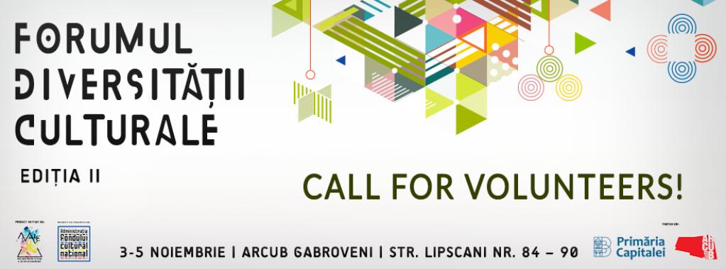 Forumul Diversității Culturale - call for volunteers!