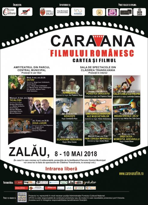 """""""Caravana filmului românesc – Cartea şi filmul"""" revine la Zalău şi anul acesta, cu filme pentru toate vârstele"""