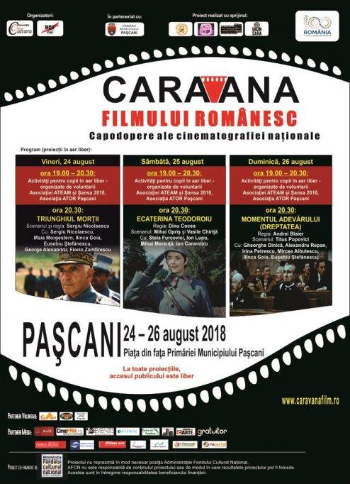 Caravana filmului românesc ajunge şi la Paşcani