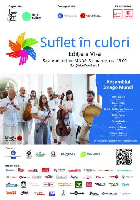 Suflet in Culori la ediția a-VI-a - Concert caritabil în beneficiul copiilor cu autism