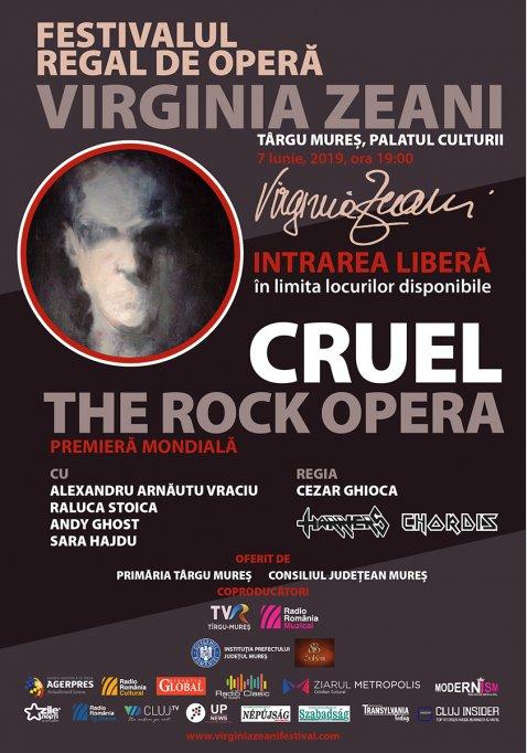 "Opera rock ""Cruel"" va avea premiera mondială la Târgu Mureș"