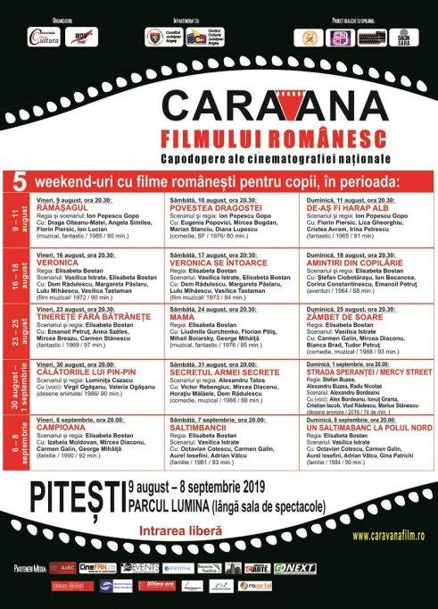"""""""Caravana filmului românesc"""": cinci weekend-uri cu filme pentru copii,  la Pitești"""