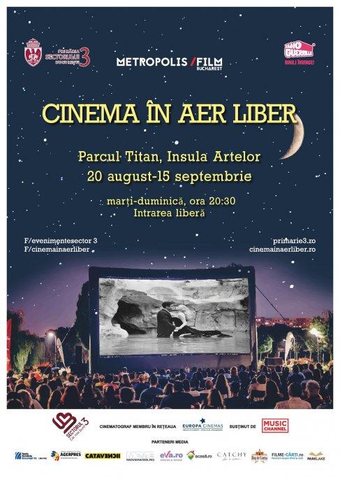 O noua saptamana de cinema in aer liber pe Insula Artelor