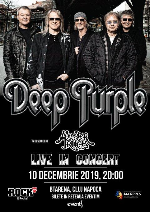 DeepPurplede pe 10 decembrie, la BT Arena din Cluj