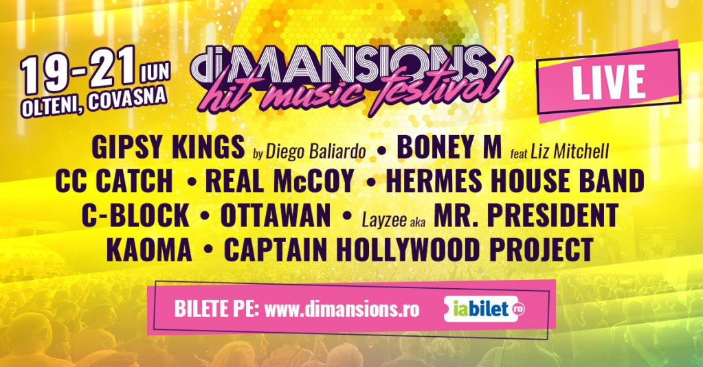 CC Catch și Boney M la festivalul diMANSIONS 2020