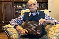 Bucureşteanul DUMITRU COMĂNESCU (111 ani şi 3 luni), declarat oficial al treilea cel mai longeviv bărbat al Planetei!