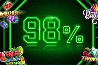 Jocuri noi în oferta Unibet cu RTP 98%