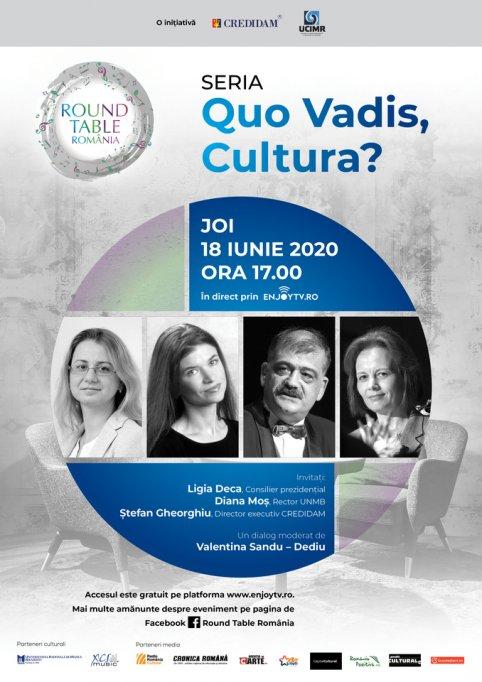 Round Table România din seria Quo Vadis, Cultura?