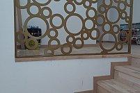 Balustrada metalica cu model cercuri - simbol al echilibrului