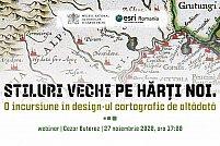 Stiluri vechi pe hărți noi. O incursiune în design-ul cartografic de altădată