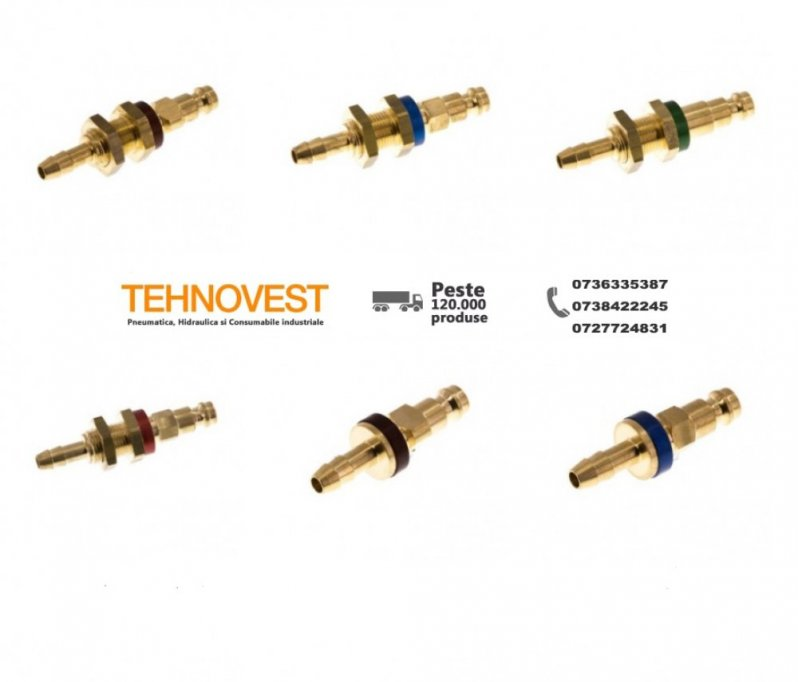 Cuple rapide de la Tehnovest - furnizor devotat de piese pentru sistemele pneumatice și hidraulice!