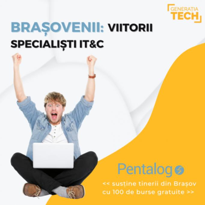 100 de burse gratuite de formare în competențe digitale & IT pentru elevii și studenții brașoveni