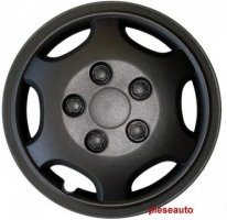 CAPACE ROTI 14INCH, NEGRE, SIOUX, 4 BUC