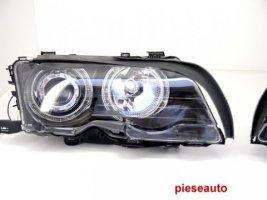 Faruri Angel Eyes BMW Seria 3 E46 Coupe/Cabrio (1998-2002) Black Edition