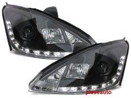 Faruri D-LITE Ford Focus 98-01 echipate cu lumina de zi LED negru