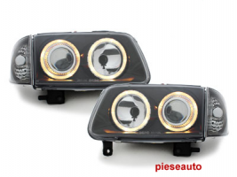 Faruri VW Polo 6N2 99-01  pozitie angeleyes  negru