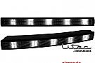 LITEC lumini de zi TFL 20 LED LxHxT 310x30x40 mm (2 St.) negru