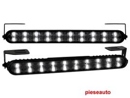 lumini de zi TFL cu 20 LED LxHxT 220x24x35mm (2 buc)negru