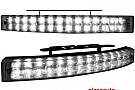 lumini de zi TFL cu 28 LED LxHxT 200x24x42mm (2 buc)negru chrome