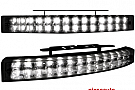 LUMINI DE ZI TFL CU 28 LED LXHXT 200X24X42MM (2 BUC)NEGRU