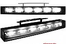 lumini de zi TFL cu 6 hipower LED 220x29x43(max)30(min)negru