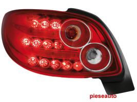 Stopuri LED Peugeot 206cc 98-09 rosu/cristal