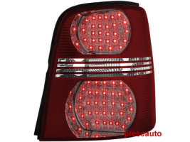 Stopuri LED VW Touran 2003+ rosu/cristal